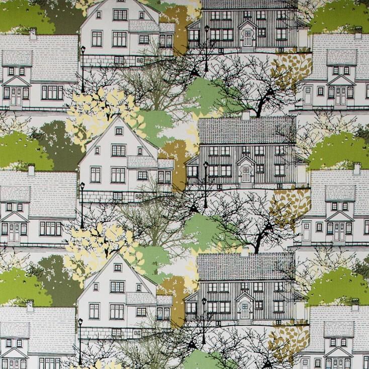 Scandinavian Fabric - Almedahls Prästliden Green