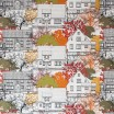 Almedahls Prästliden Orange Swedish Fabric