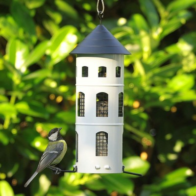 Wildlife Garden Swedish Combi Bird Feeder - White