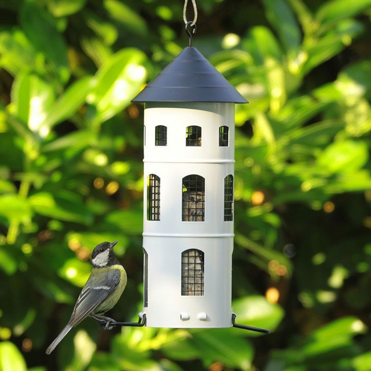 Wildlife Garden Swedish Combi Bird Feeder - White