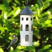 White Swedish Combi Bird Feeder