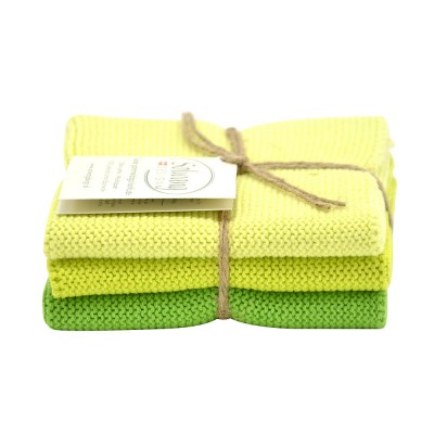 Danish Cotton Dishcloth Trio - Fair Green