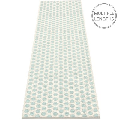 Pappelina Noa Pale Turquoise & Vanilla Runner - 70 x 250 cm