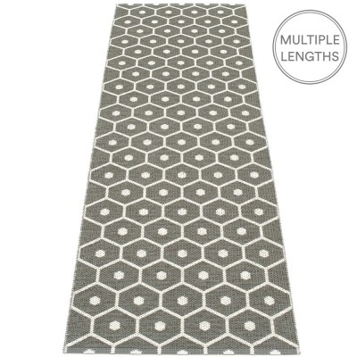 Pappelina Honey Charcoal Grey & Vanilla Runner 70 x 225 cm