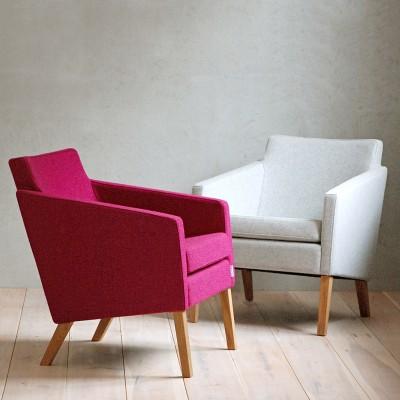 Gad Tofta Armchair - Wool Upholstery - Oak legs