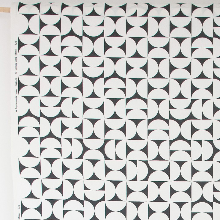 Spira Siv Black Swedish Fabric
