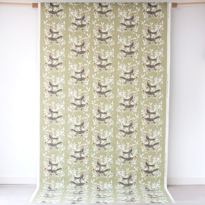Almedahls Duet Green Swedish Fabric
