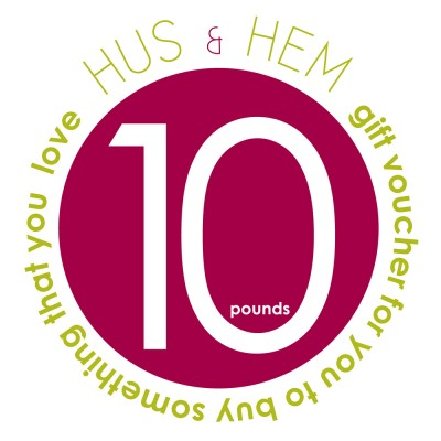 Hus & Hem Ten Pound Gift Voucher