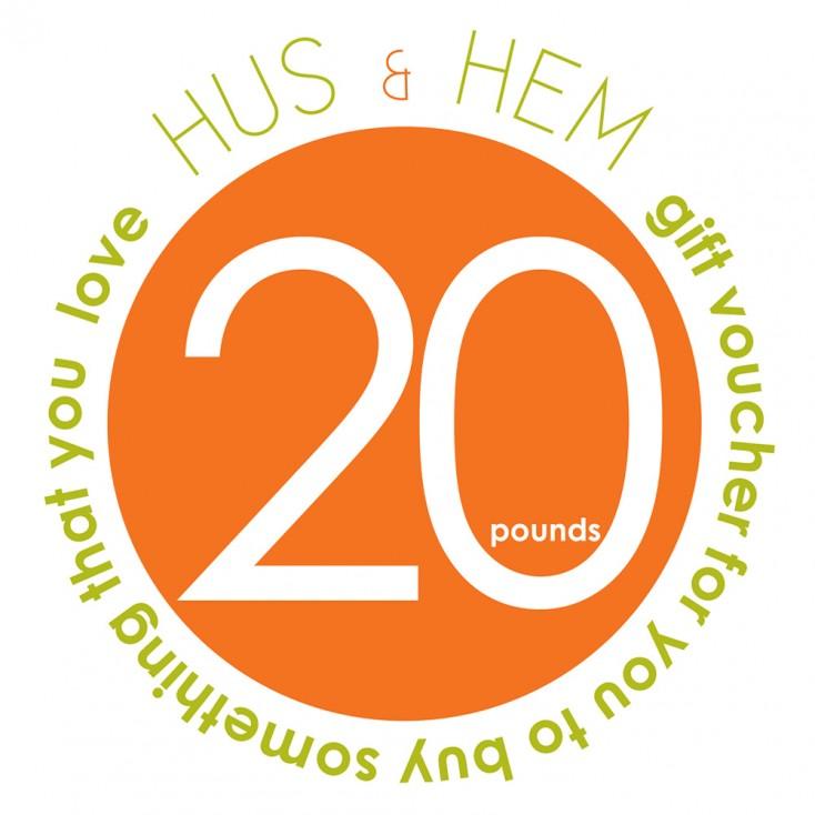 Hus & Hem Twenty Pound Gift Voucher