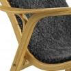 Swedese Charcoal Sheepskin Lamino Chair - Oak Detail