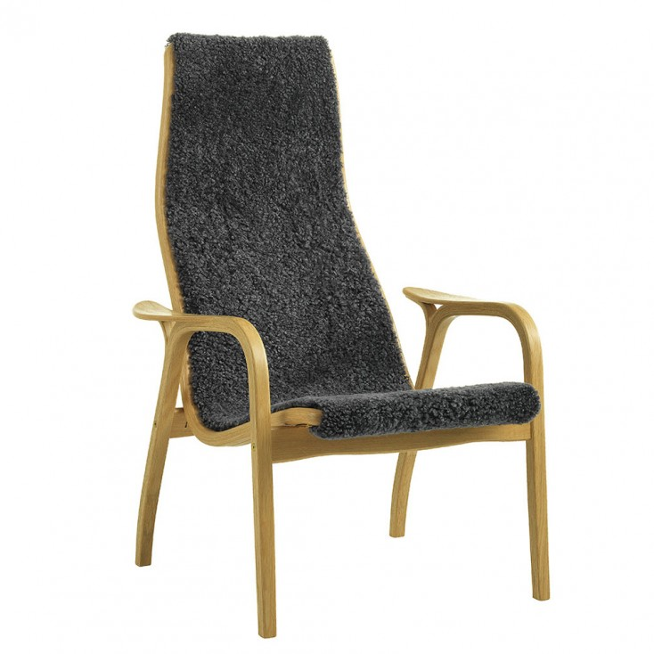 Swedese Charcoal Sheepskin Lamino Chair