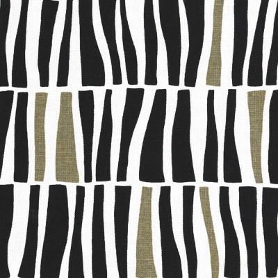 Spira Zilla Black Scandinavian Fabric - Full Width