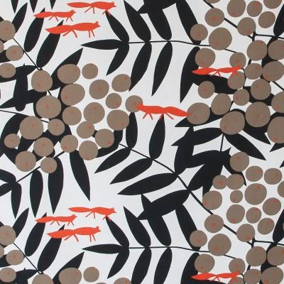 Fabric Remnant - Surt Sa Räven Fabric - 57 x 190 cm
