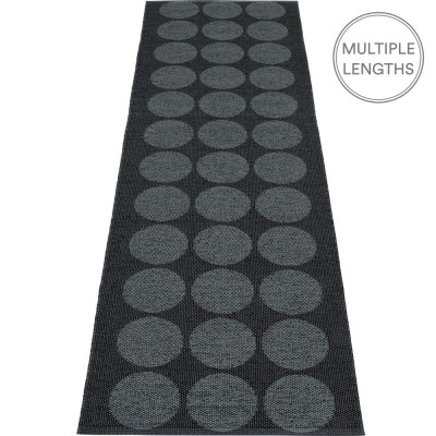 Pappelina Hugo Black Metallic Runner - 70 x 240 cm