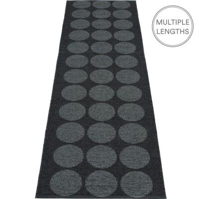 Pappelina Hugo Black Metallic Runner - 70 x 240 cm