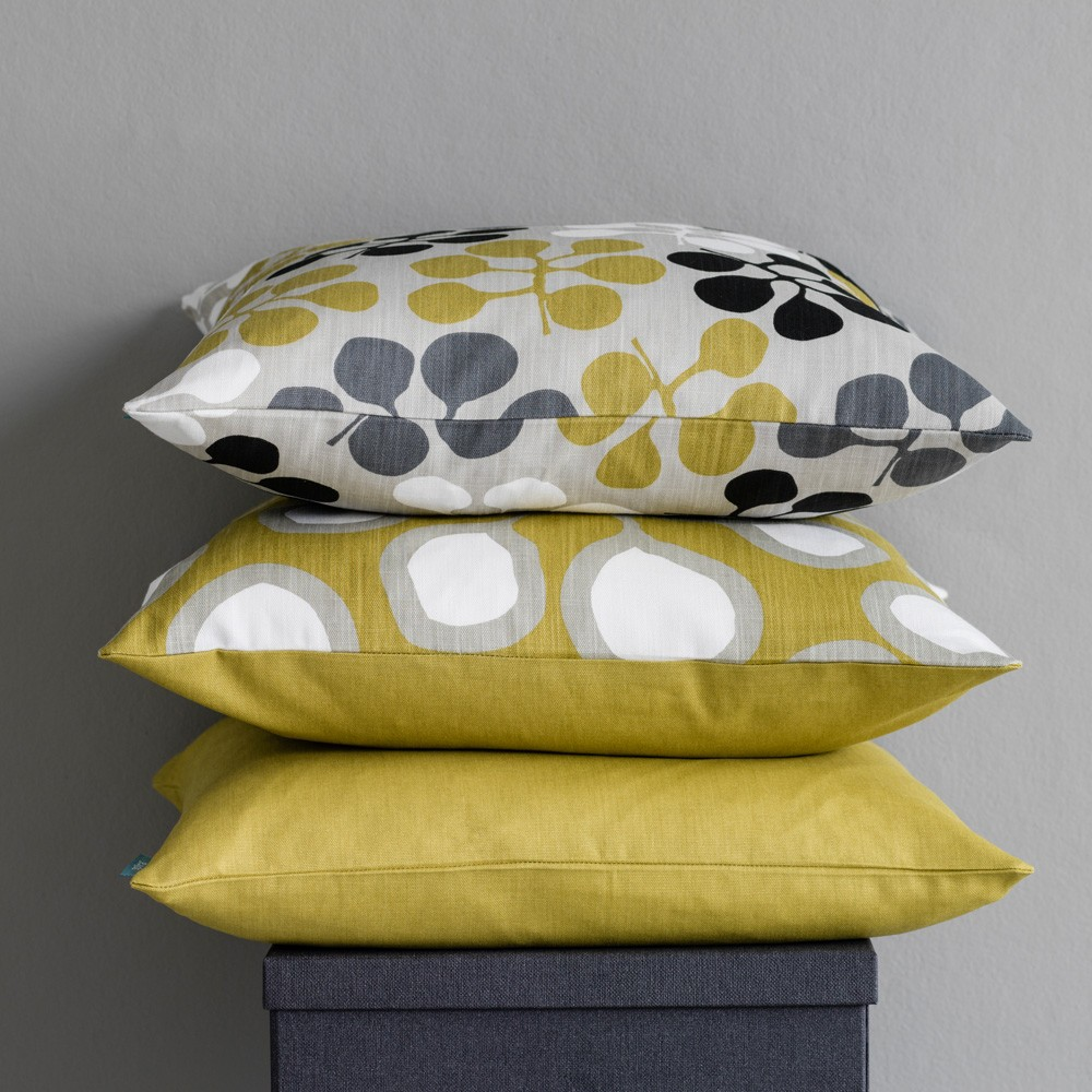 Sedum Mustard Cushion By Spira Of Sweden Hus Amp Hem