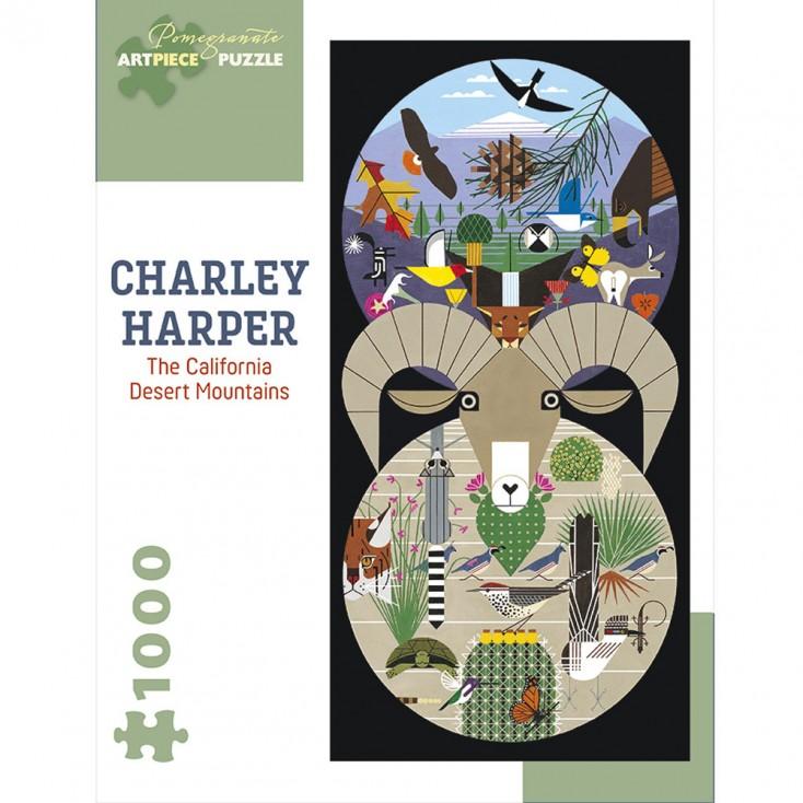 Charley Harper California Desert Mountains Jigsaw