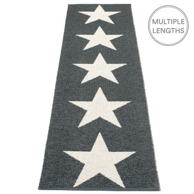 Pappelina Viggo Star Black Metallic Runner - 70 x 250 cm