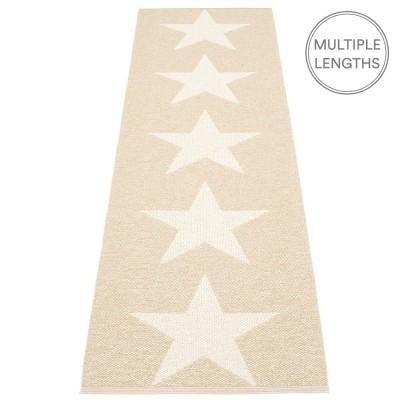 Pappelina Viggo Star Beige Metallic Runner - 70 x 250 cm