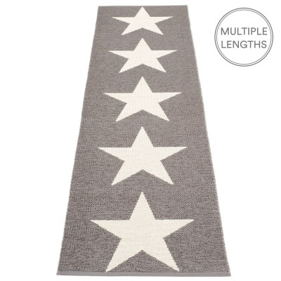 Pappelina Viggo Star Mud Metallic Runner - 70 x 250 cm