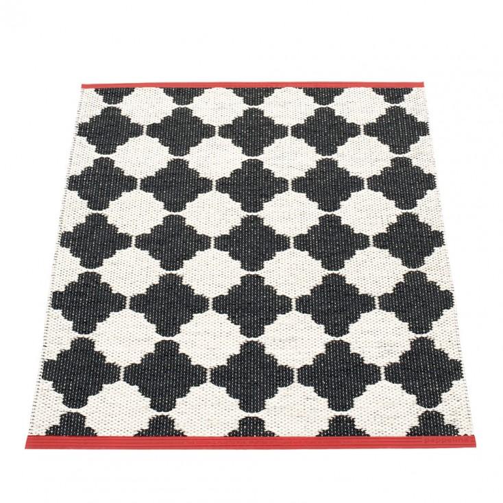 Pappelina Marre Black & Vanilla Mat - 70 x 90 cm