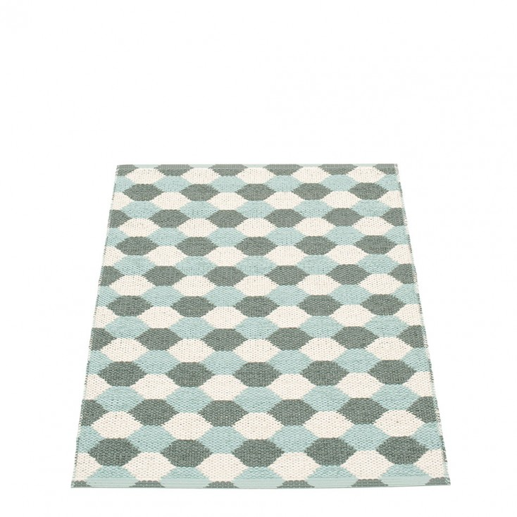 Pappelina Dana Army & Pale Turquoise Runner - 70 x 100 cm