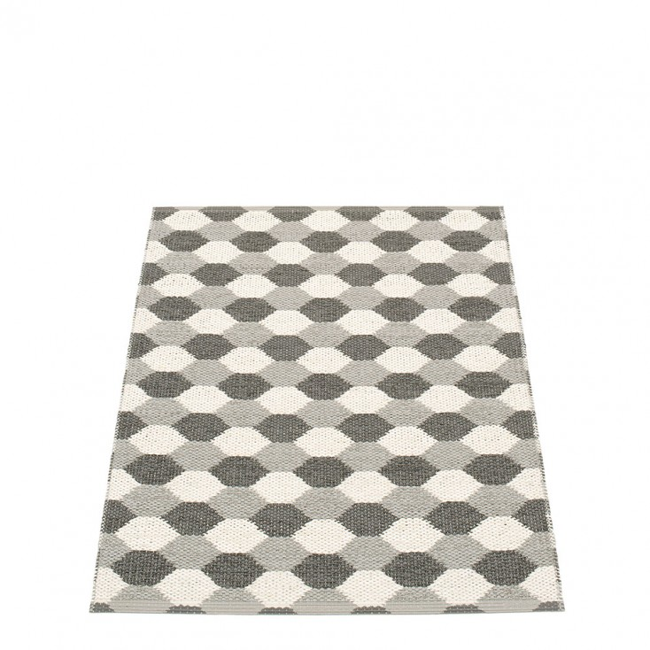 Pappelina Dana Warm Grey & Charcoal Runner - 70 x 100 cm