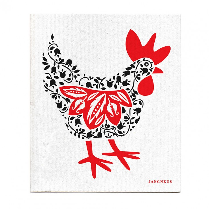 Jangneus Black Hen Dishcloth