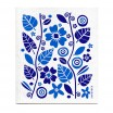 Jangneus Blue Flowers & Leaves Dishcloth