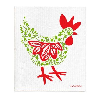 Jangneus Green Hen Cellulose Dishcloth