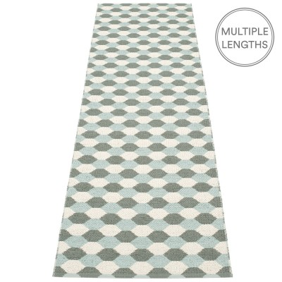 Pappelina Dana Army & Pale Turquoise Runner - 70 x 250 cm