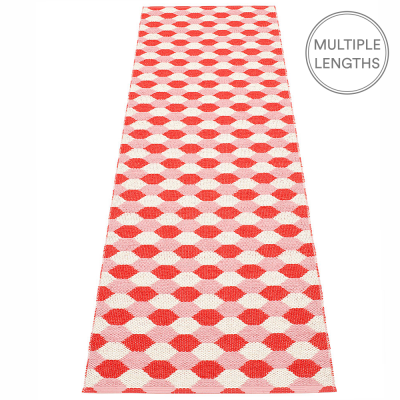 Pappelina Dana Coral Red & Piglet Runner - 70 x 250 cm