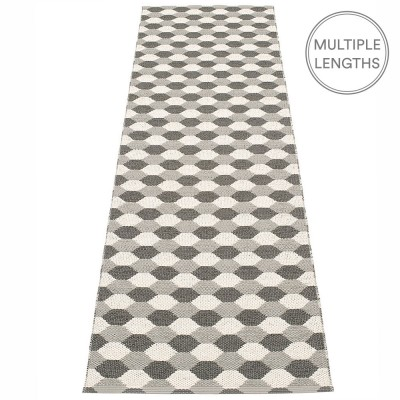 Pappelina Dana Warm Grey & Charcoal Runner - 70 x 250 cm