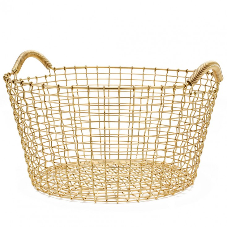 Korbo Classic 35 Basket - Solid Brass