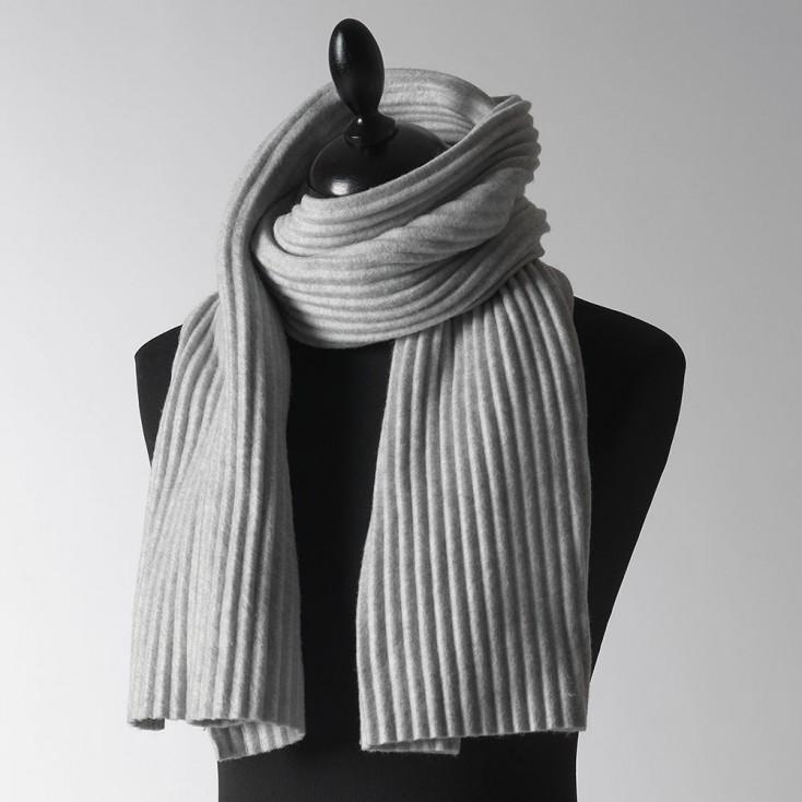 Design House Stockholm Short Pleece Scarf - Light Grey