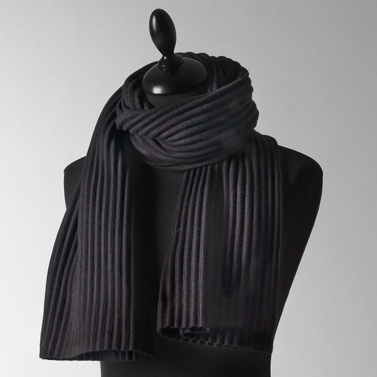 Design House Stockholm Black Short Pleece Scarf