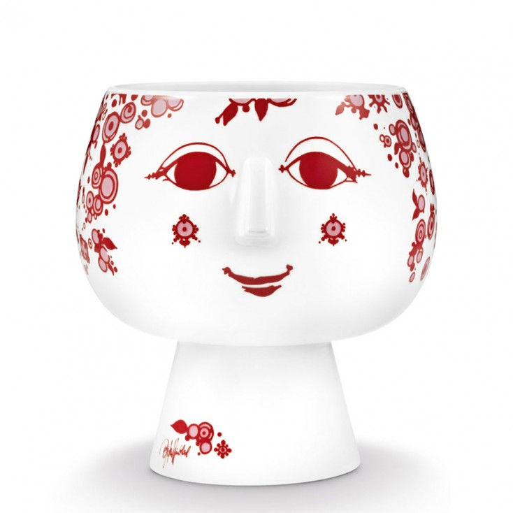Bjorn Wiinblad Juliane Flowerpot - Red