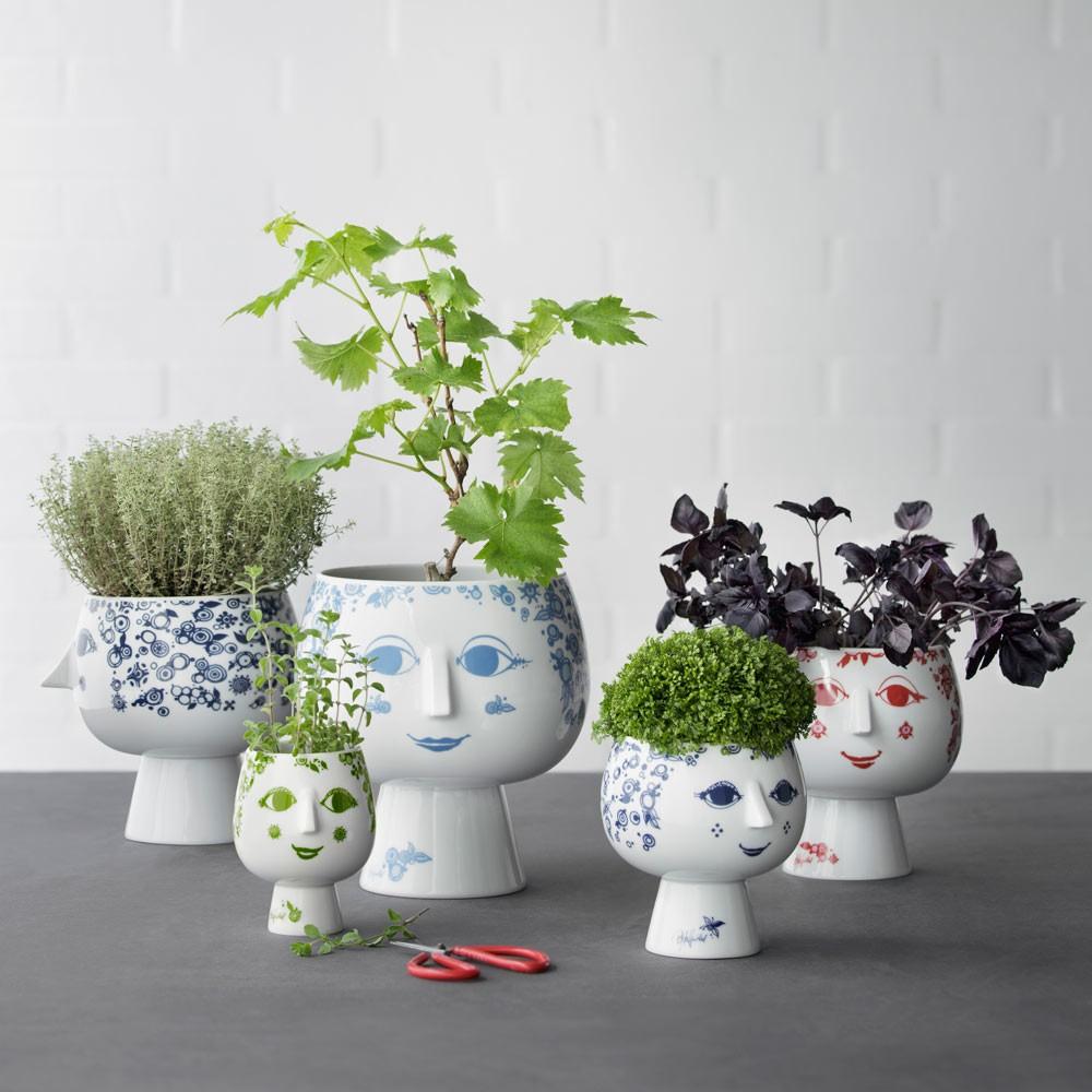 bjorn wiinblad juliane flowerpot red hus hem. Black Bedroom Furniture Sets. Home Design Ideas