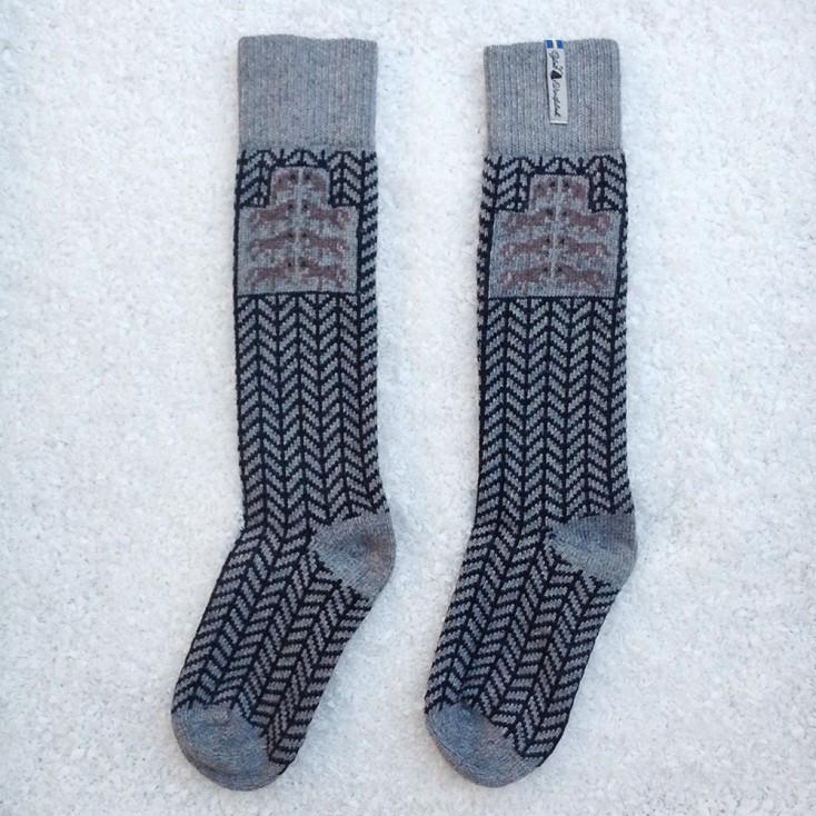 Öjbro Swedish Wool Socks - Gotland Grey