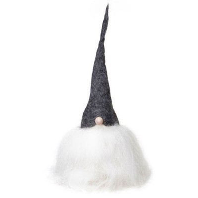 Swedish Tomte 30cm - Grey Hat White Beard