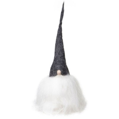 Swedish Tomte 25cm - Grey Hat White Beard
