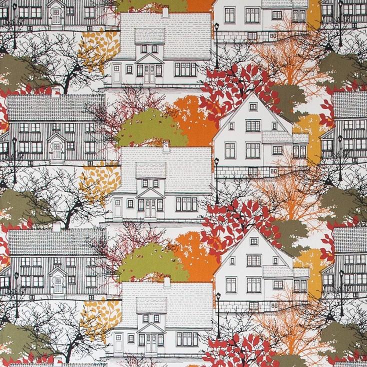 Remnant - Prastliden Orange Fabric - 60 cm