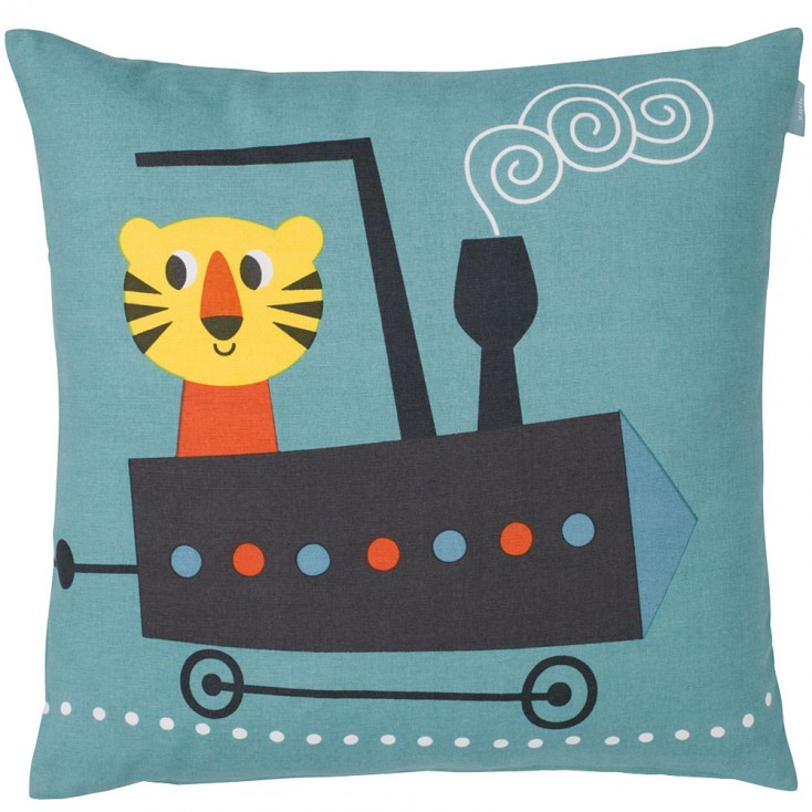 Spira Tiger Cushion - Blue