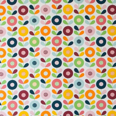 Remnant - Cirkelblomma Multi Fabric - 50 cm