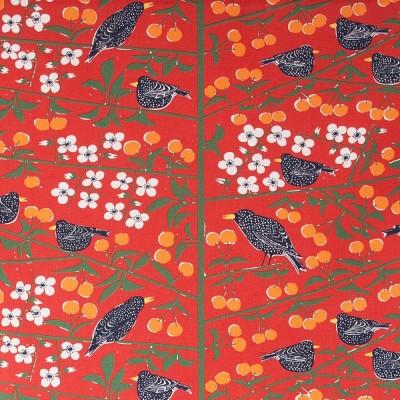 Remnant - Körsbärsträdgården Red Fabric