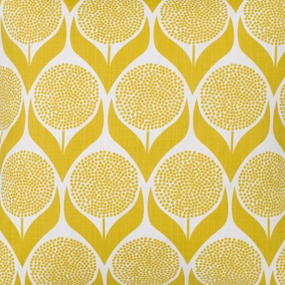 Spira Blomma Lime Yellow Swedish Fabric