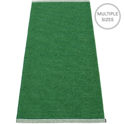 Pappelina Mono Grass Green : Dark Green Mat - 85 x 260 cm