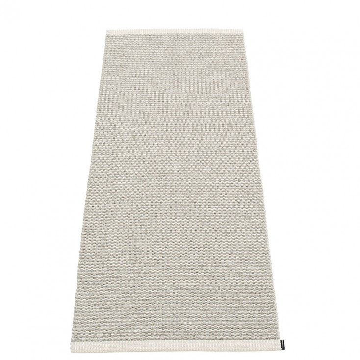 Pappelina Mono Fossil Grey : Warm Grey Runner - 60 x 150 cm