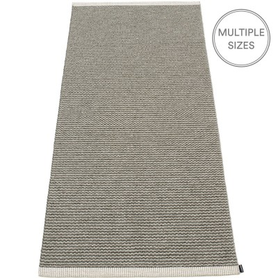Pappelina Mono Warm Grey : Charcoal Runner - 85 x 260 cm