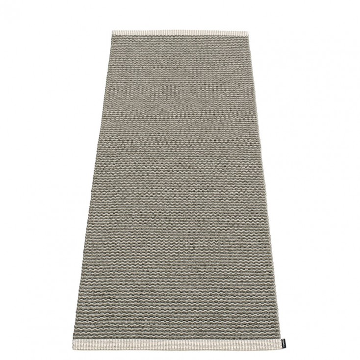 Pappelina Mono Warm Grey : Charcoal Runner - 60 x 150 cm